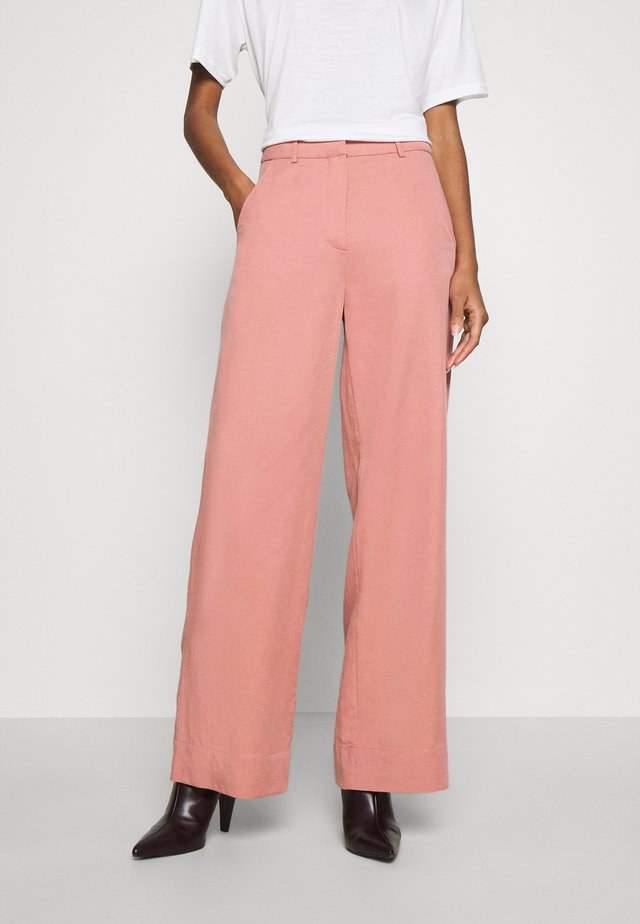 PRIYA TROUSERS - Tygbyxor - ash rose