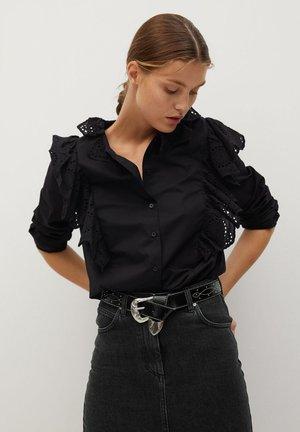RUFFLE - Bluse - schwarz