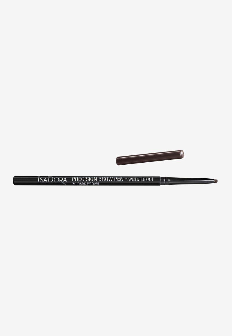 IsaDora - PRECISION BROW PEN WATERPROOF - Eyebrow pencil - dark brown