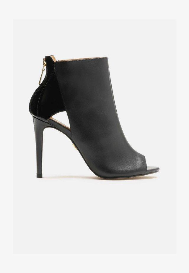MEGAN - High Heel Peeptoe - black