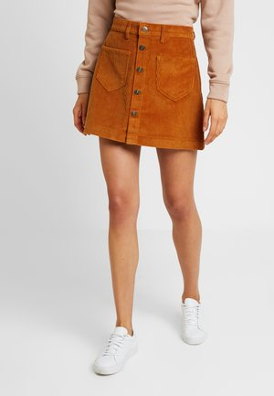 ONLAMAZING SKIRT - Falda acampanada - rustic brown