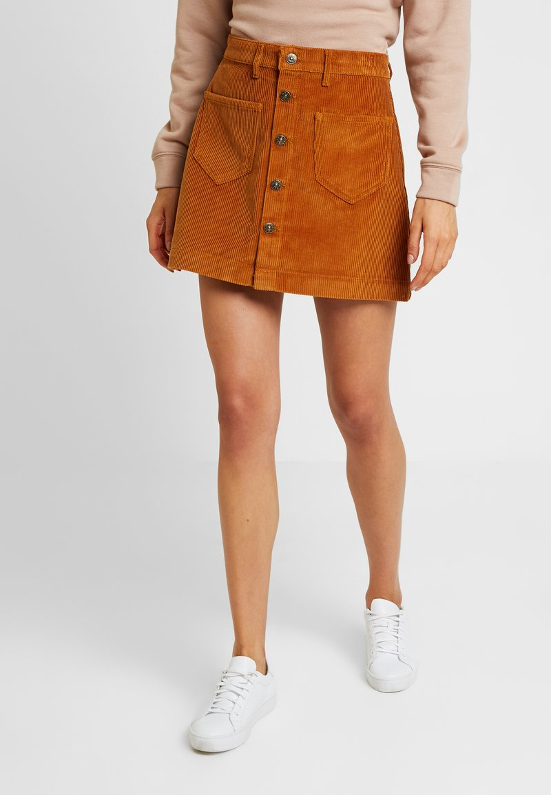 ONLY - ONLAMAZING SKIRT - Jupe trapèze - rustic brown