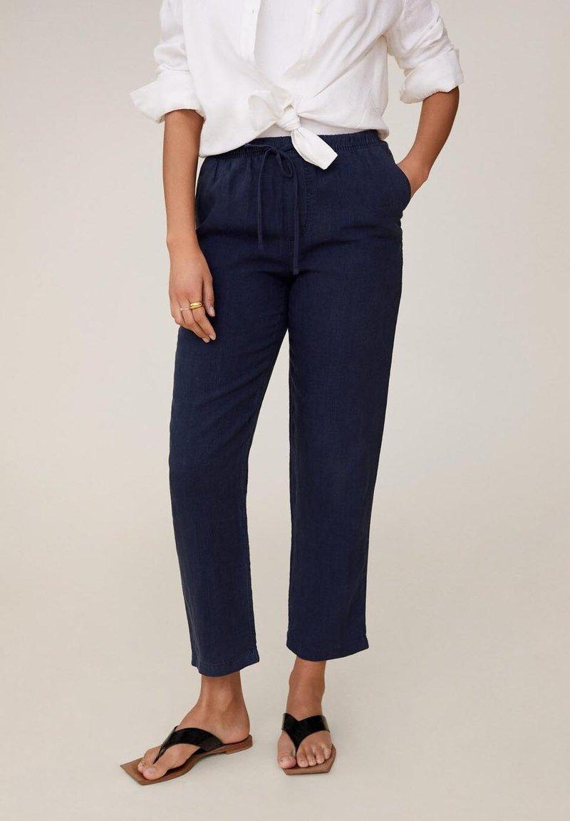 Mango - Pantalon classique - blu marino scuro