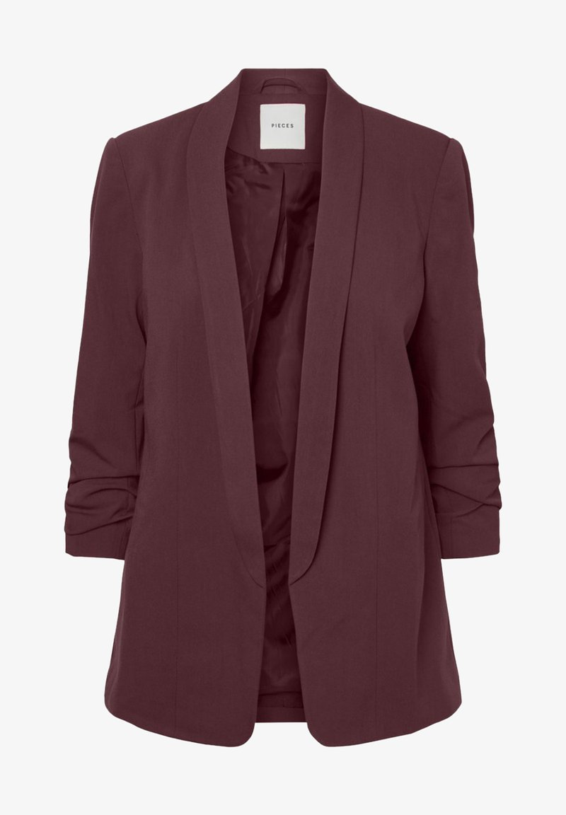 Pieces - PCBOSS - Cappotto corto - dark red