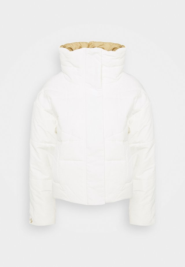 FUNNEL NECK PUFFER JACKET - Giacca invernale - vintage white