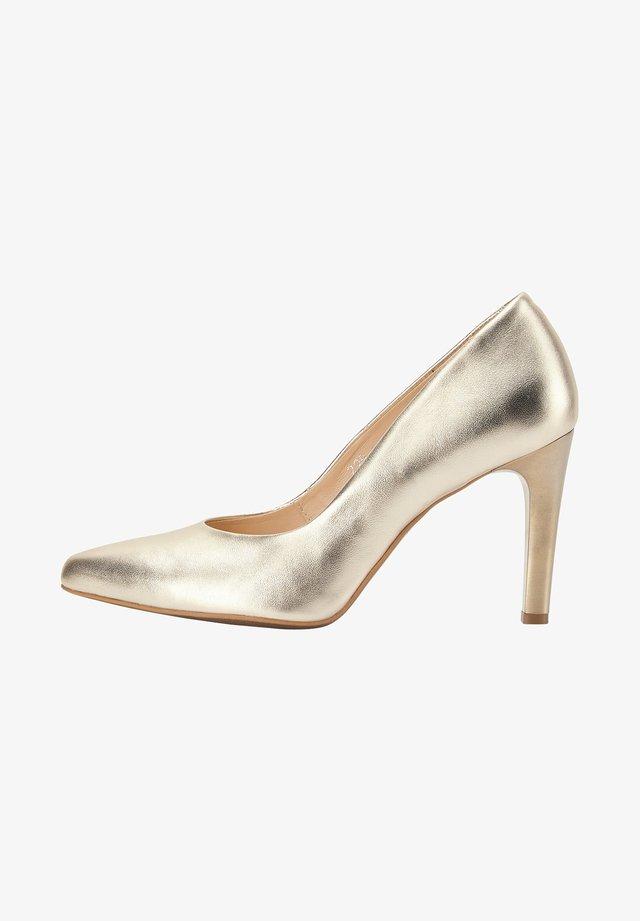 High heels - gold metallic