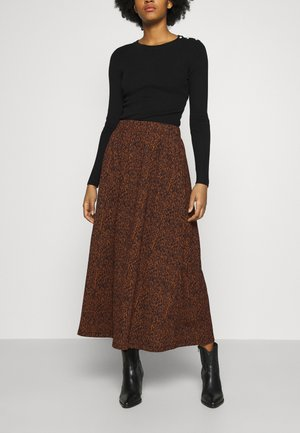 ONLZILLE SKIRT - Falda larga - rust