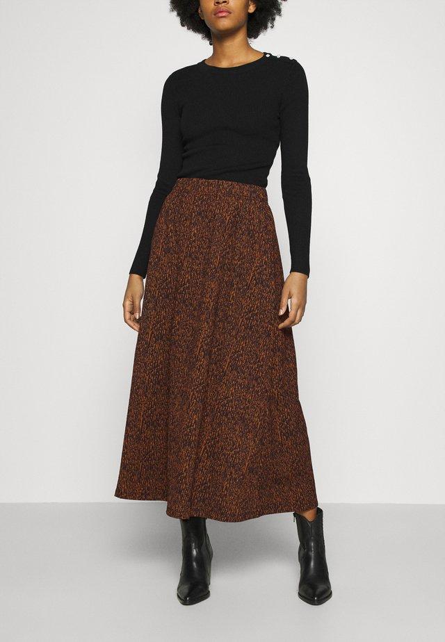 ONLZILLE SKIRT - Maxi skirt - rust