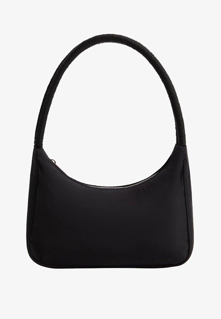 Violeta by Mango - MIT FLECHTHENKEL,NYLON - Handbag - schwarz