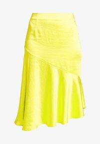 PUK SKIRT - A-line skjørt - neon yellow