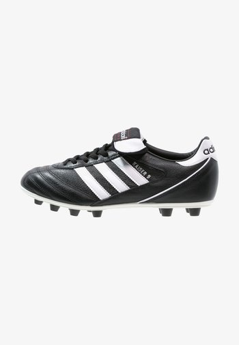 KAISER 5 LEATHER FOOTBALL BOOTS FIRM GROUND - Moulded stud football boots - black/running white/rot
