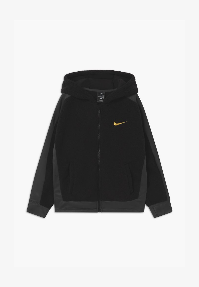 Nike Performance - THERMA WINTERIZED - Fleece jacket - black/dark smoke grey