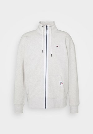 SOLID TRACK JACKET - Mikina na zip - grey