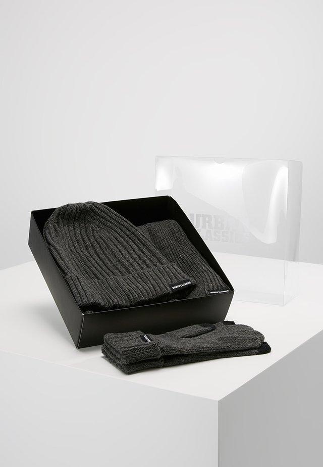 CLASSIC SET - Sjal - darkgrey melange
