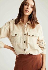 DeFacto - Button-down blouse - ecru - 3