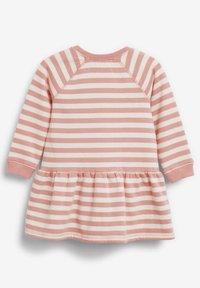 Next - STRIPE CHARACTER SWEAT DRESS (3MTHS-7YRS) - Day dress - pink - 1