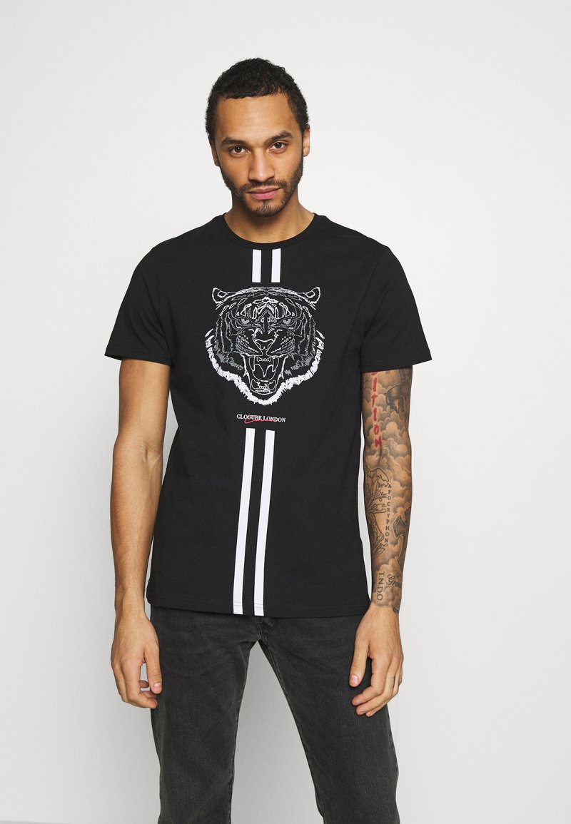 CLOSURE London - FURY TEE - Print T-shirt - black