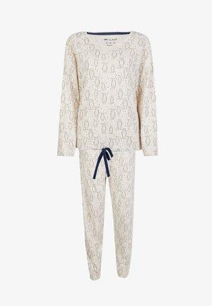 OWL PRINT  SET - Pyjamas - beige