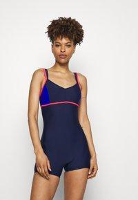 Arena - VENUS COMBI - Swimsuit - navy/fluo red/neon blue - 0