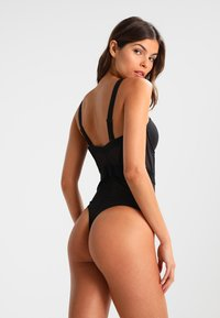 DKNY Intimates - SHEERS CUPPED STRAPLESS BODYSUIT - Body - black - 2