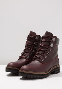 Timberland - LONDON SQUARE 6IN BOOT - Lace-up ankle boots - bordeaux - 4