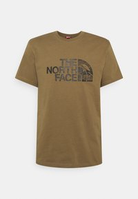 The North Face - WOODCUT DOME TEE - T-shirt con stampa - military olive - 0