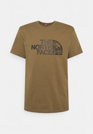 WOODCUT DOME TEE - Print T-shirt - military olive