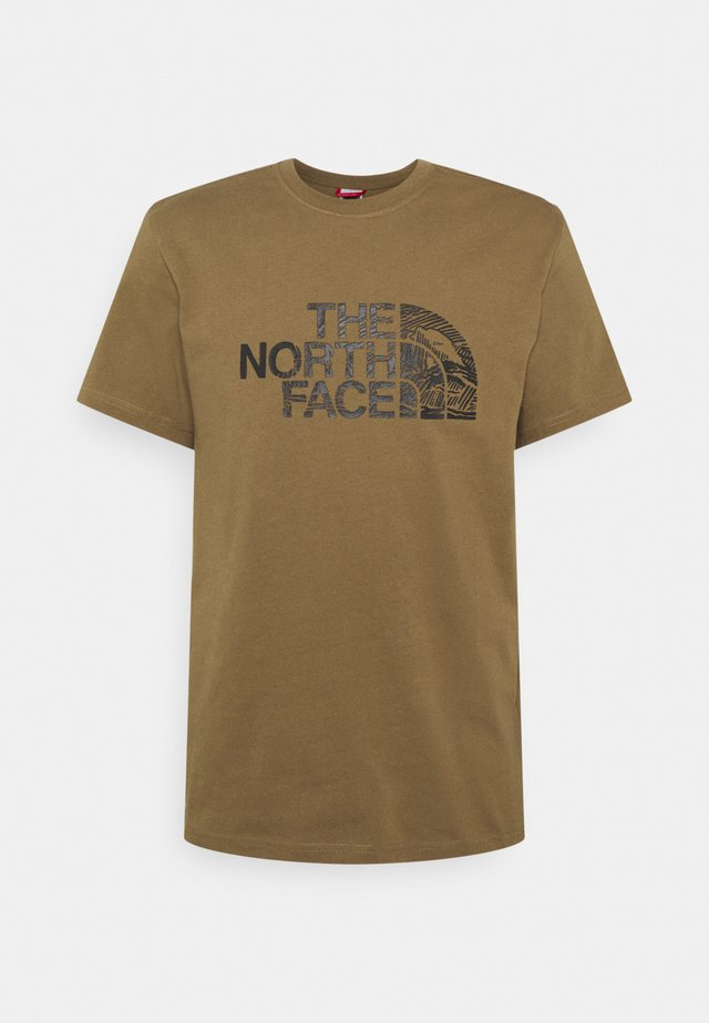 WOODCUT DOME TEE - T-shirt med print - military olive