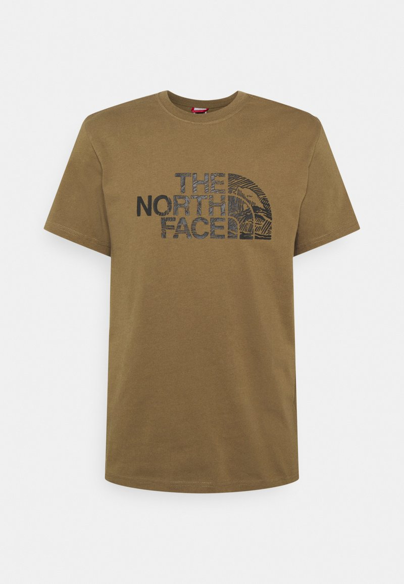 The North Face - WOODCUT DOME TEE - T-shirt con stampa - military olive