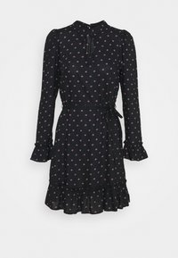 Miss Selfridge - DITSY SMOCK DRESS - Denní šaty - black - 4