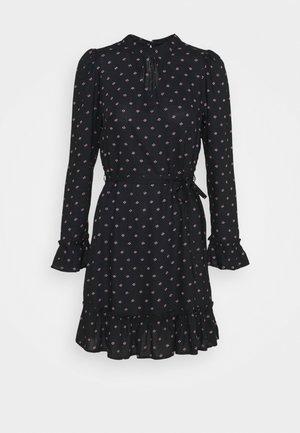 DITSY SMOCK DRESS - Day dress - black