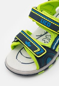 LICO - LUCA - Walking sandals - marine/lemon/blau - 5