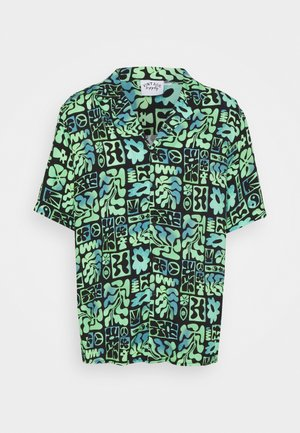 REVERE SHIRT IN OMBRE ABSTRACT PRINT UNISEX - Shirt - green/black