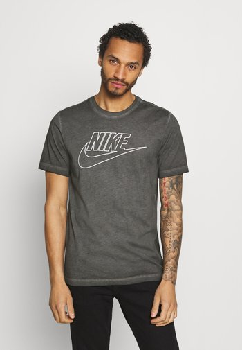 TEE DYE WASH - T-shirt med print - black