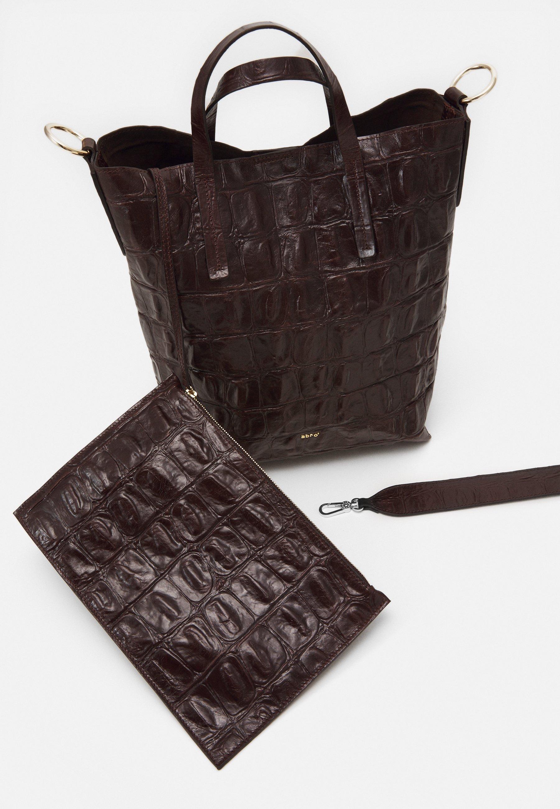 Abro Julie Set - Håndtasker Dark Brown