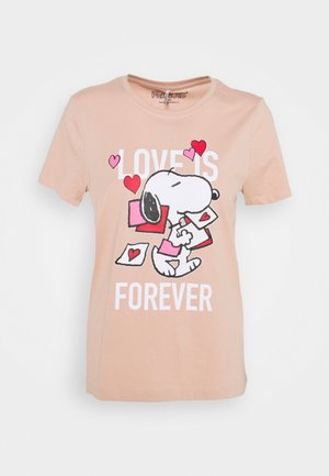 ONLPEANUTS LIFE LOVE - Camiseta estampada - misty rose