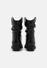 Steven New York - ADELINE - Kovbojské/motorkářské boty - black - 3