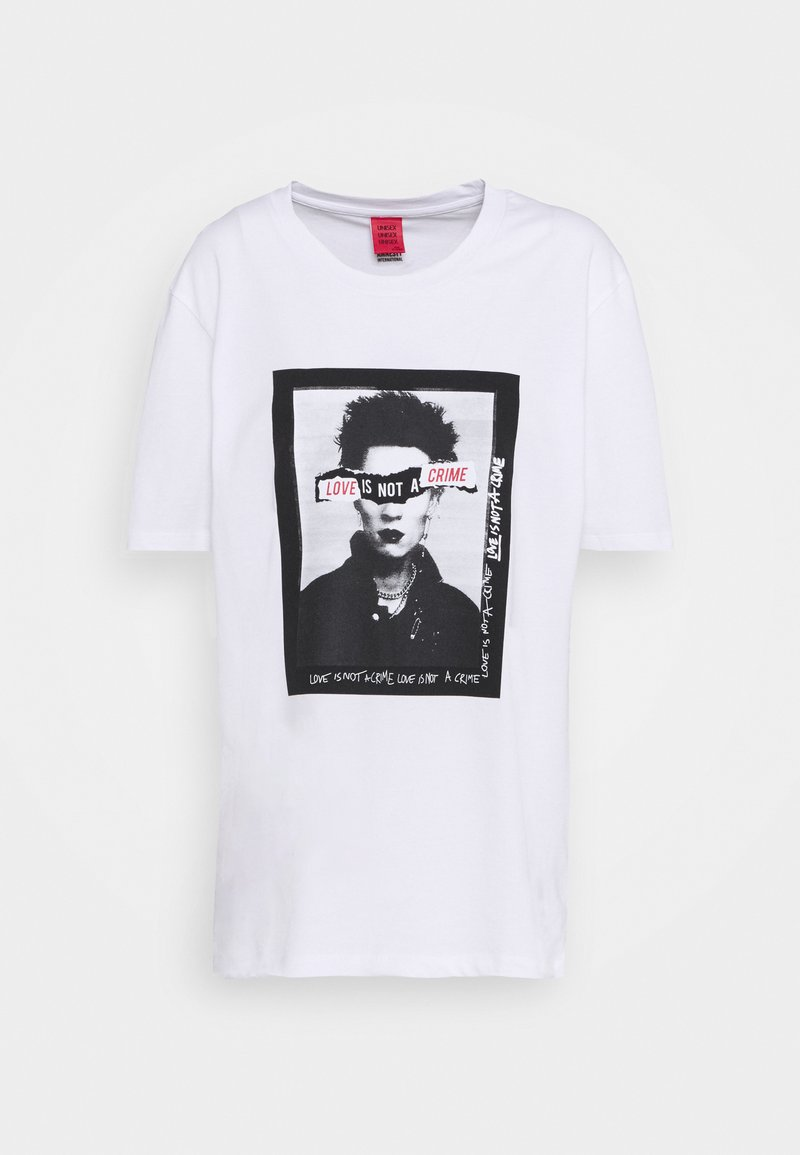 Won Hundred - LOVE IS NOT A CRIME 2019 - Print T-shirt - white