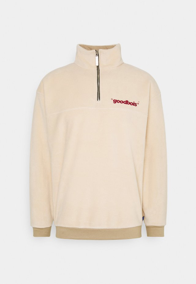 OFFICIAL HALFZIP  - Fleece trui - beige