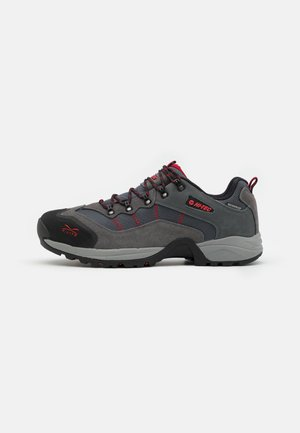 SIERRA V-LITE SPEEDHIKE LOW WP - Hiking shoes - steel grey/graphite/charcoal/core red