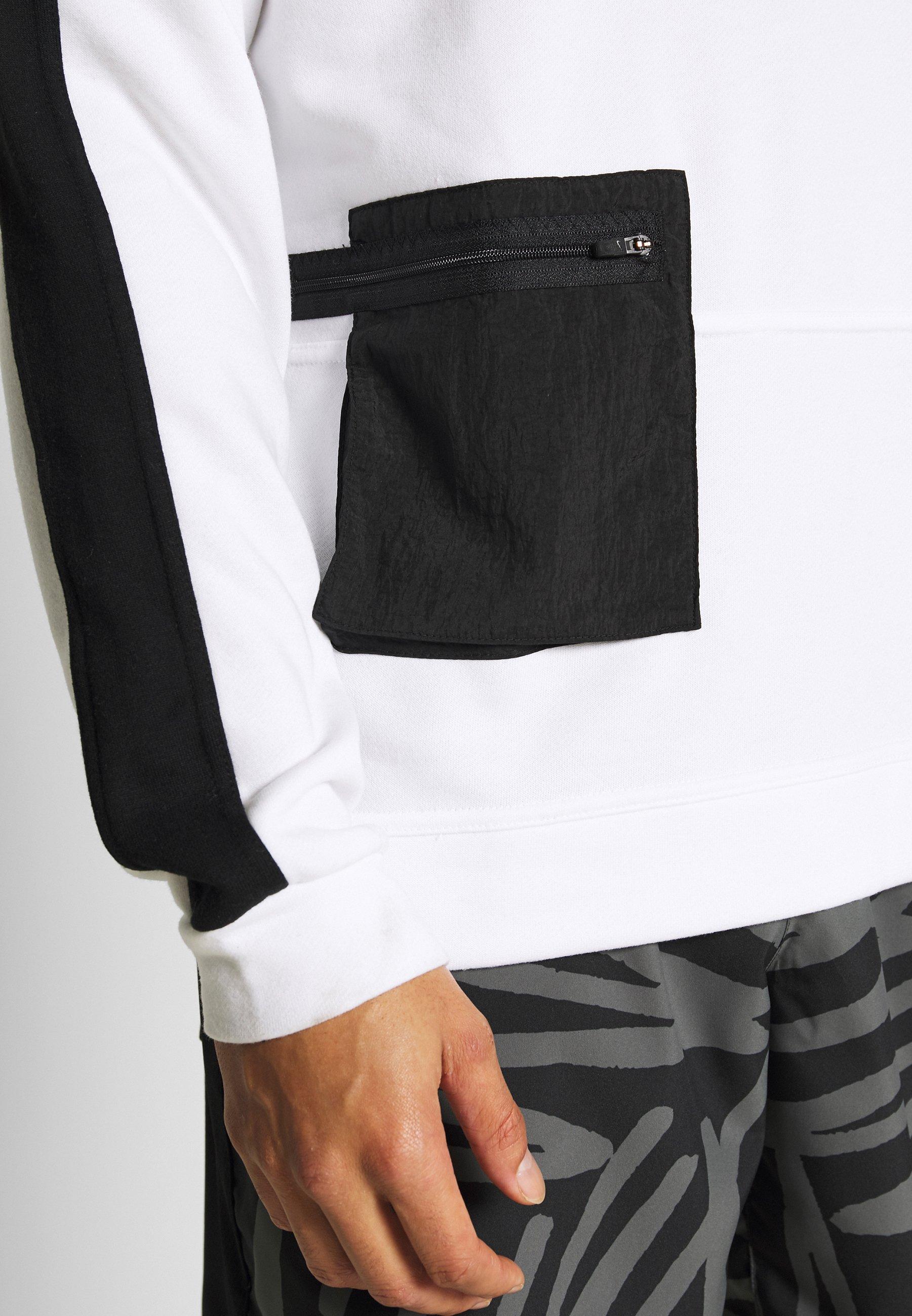 Nike Performance M NK DRY TOP FLEECE PX - Sweatshirt - white/black