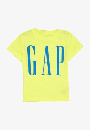 TODDLER BOY LOGOMANIA TEE - T-shirt z nadrukiem - vibrating yellow