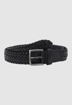 BELT UNISEX - Braided belt - black