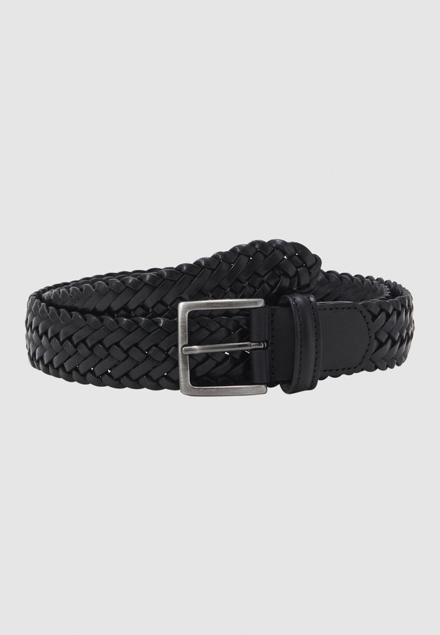 BELT UNISEX - Flettet belte - black