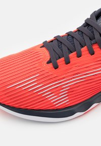 Mizuno - WAVE SHADOW 4 - Competition running shoes - ignition red/wan blue/india ink - 5