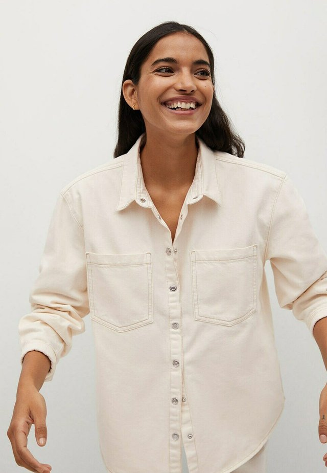 Button-down blouse - crudo