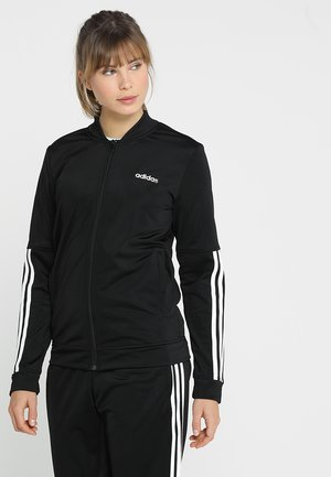 ESSENTIALS 3STRIPES SPORT TRACKSUIT - Träningsset - black/white