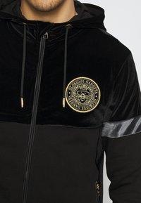 Glorious Gangsta - ARMANDO ZIPHOODIE - Zip-up sweatshirt - jet black - 5