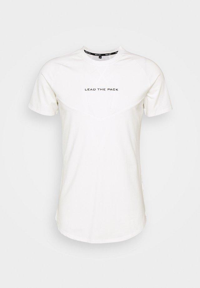 STATEMENT TEE - Print T-shirt - white