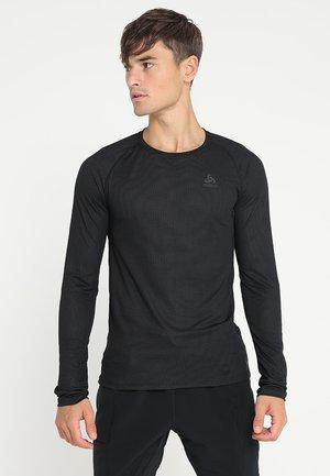 CREW NECK ACTIVE F-DRY LIGHT - Undershirt - black